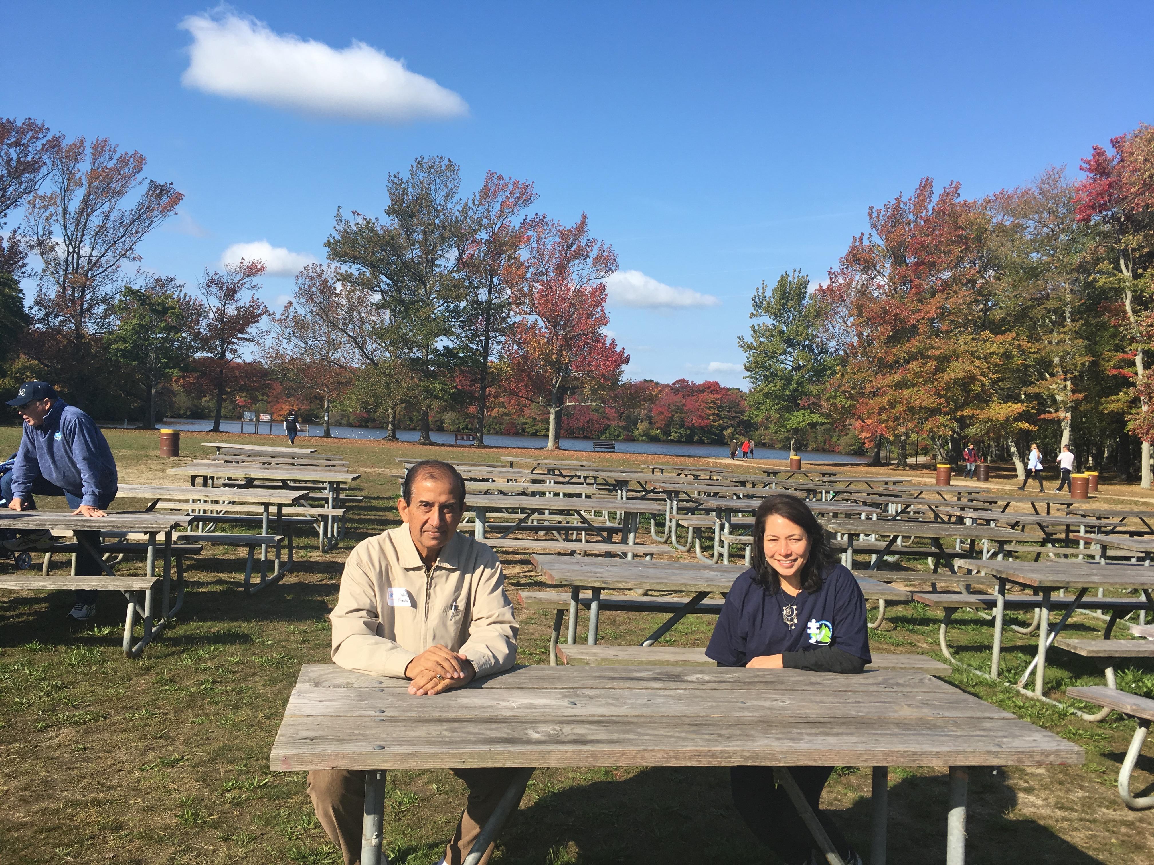 Khalid Rehman and Mary Hernandez enjoying a well-deserved break