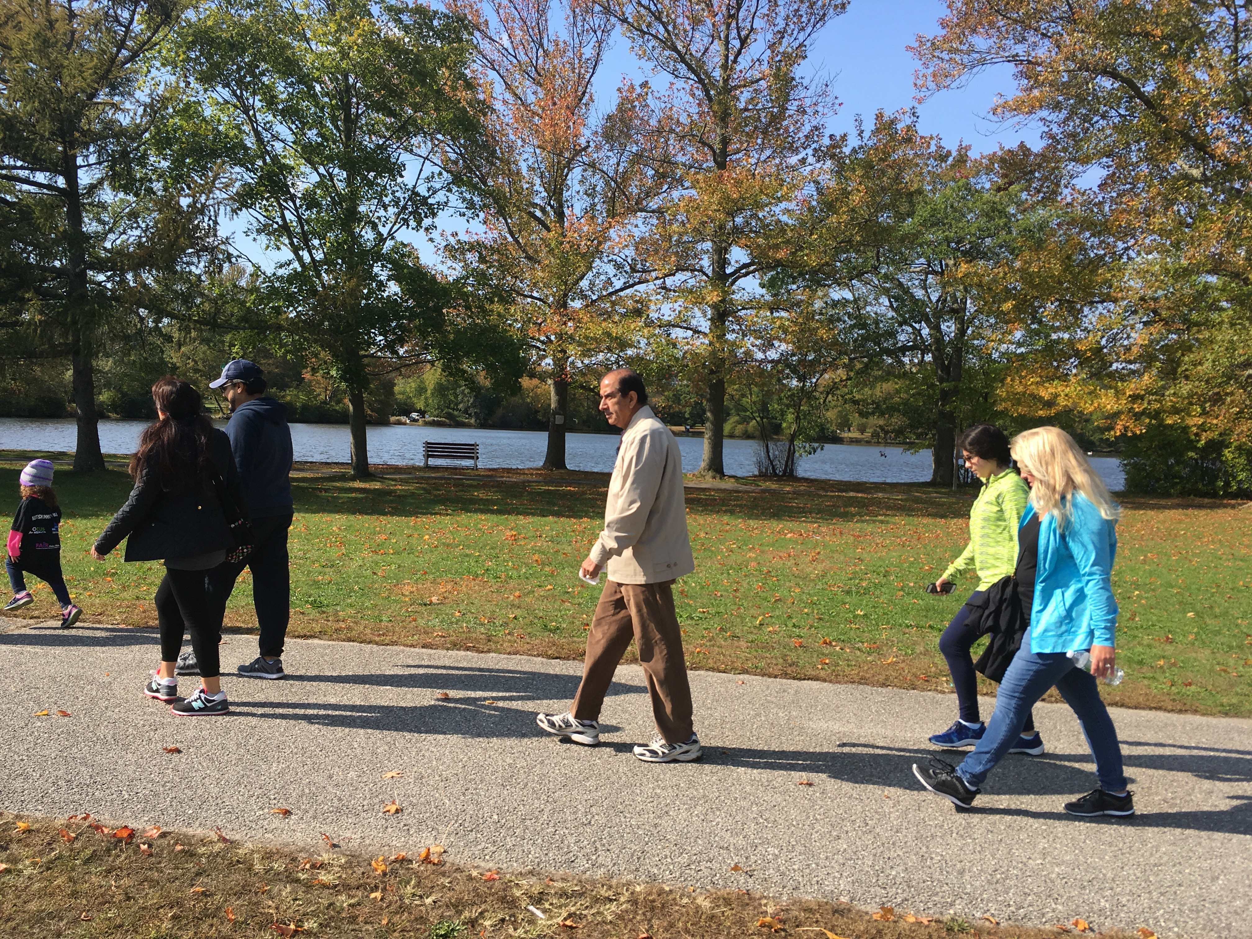 Walkers and beautiful fall colors